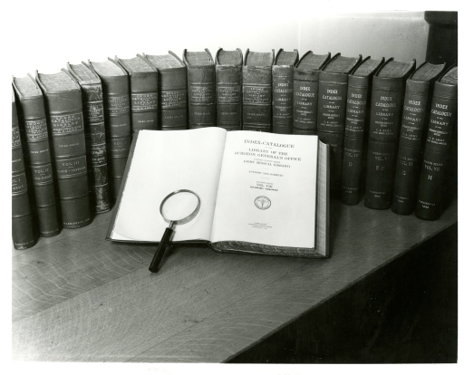 <p>Volumes of the third and fourth series of the Index-Catalogue of the Library of the Surgeon General's Office.</p>