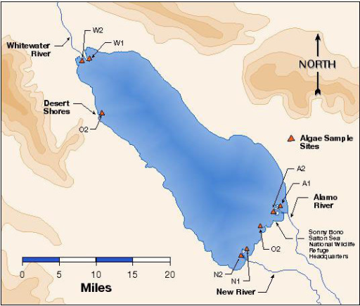 Salton Sea Map Showing Areas Of Sample Collections Col Openi - Salton sea on us map