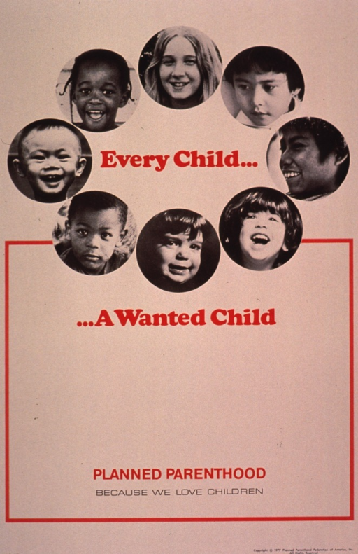 <p>Predominantly cream poster with red and black lettering.  Initial title phrase near top of poster.  Phrase encircled by b&amp;w photo reproductions featuring children's faces; the children represent diverse ages and ethnicities.  Remaining title phrase below photos.  Note below.  Publisher information at bottom of poster.</p>