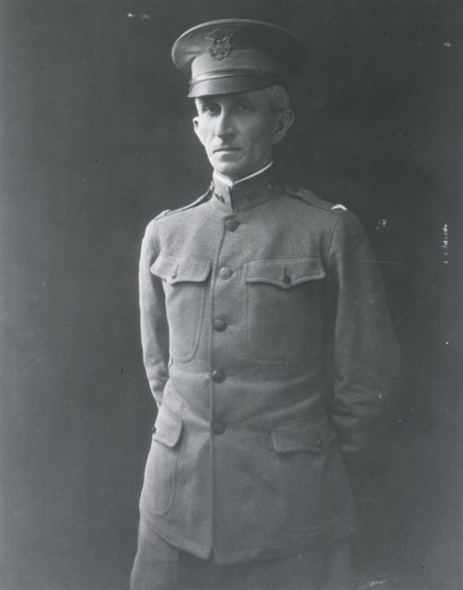 <p>Standing, three quarter length, uniform, arms behind back.</p>