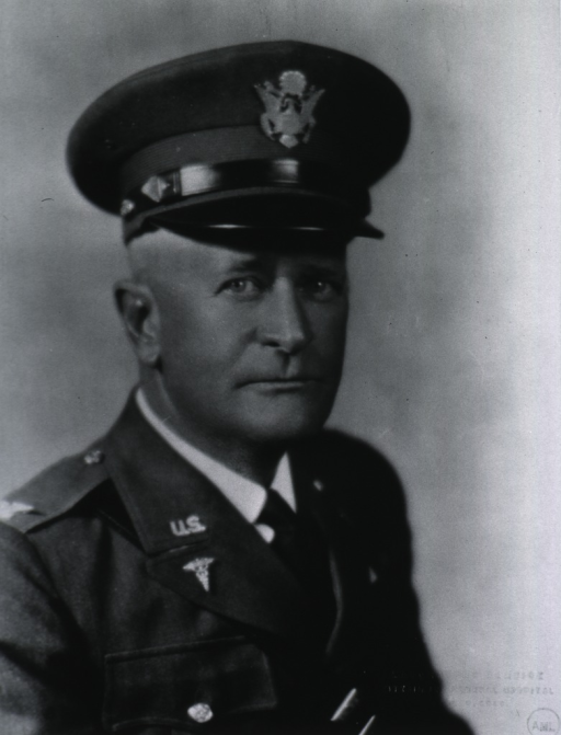 <p>Head and shoulders, right pose, full face; wearing uniform and cap (Colonel, M.C., U.S. Army).</p>