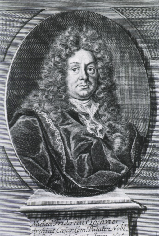 <p>Head and shoulders, right pose, full face, long curls; in oval.</p>