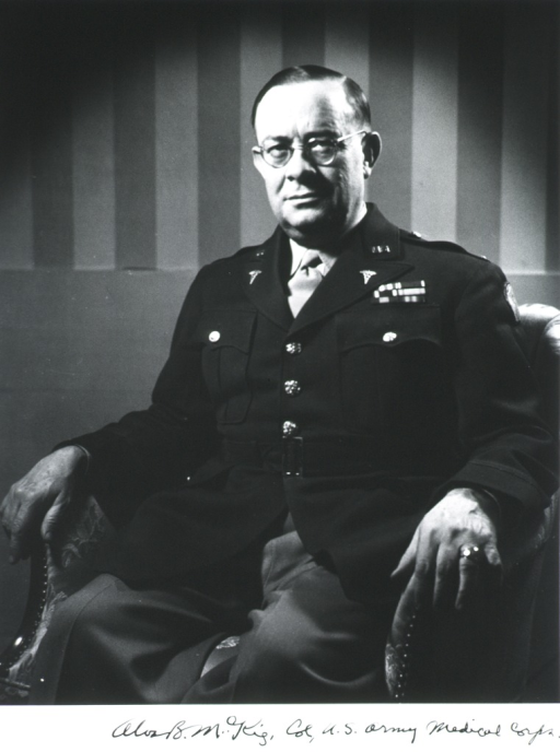 <p>Seated, full face, showing hands, in uniform, colonel.</p>