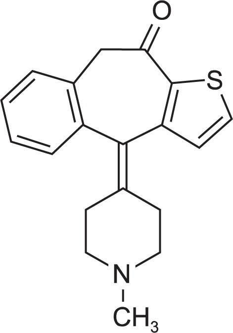 Structure of Ketotifen.