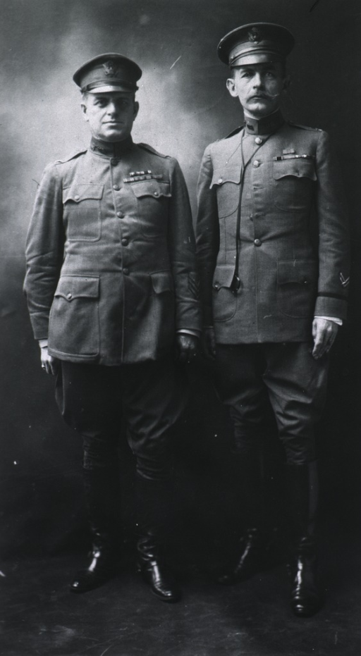 <p>Showing David S. Fairchild (full length, wearing uniform) with Ashford.</p>