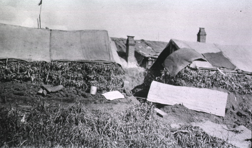 <p>A view of samtarus tents at Military Hospital No. 75.</p>