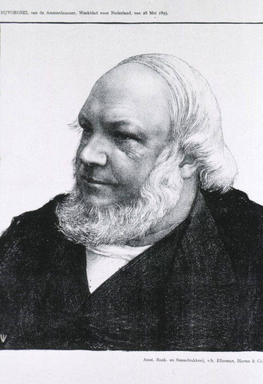 <p>Head and shoulders, left pose, long white hair and beard.</p>