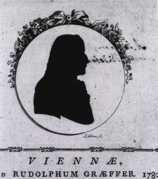 <p>Silhouette, head and shoulders, right pose.</p>