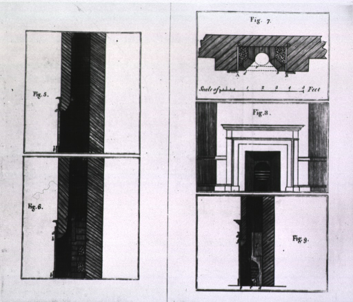 <p>Plans of chimney fireplaces.</p>