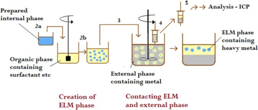 Schematic representation of the procedure of the metal extraction experiments.