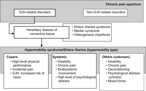 Clinical heterogeneity.Abbreviation: GJH, generalized joint hypermobility.