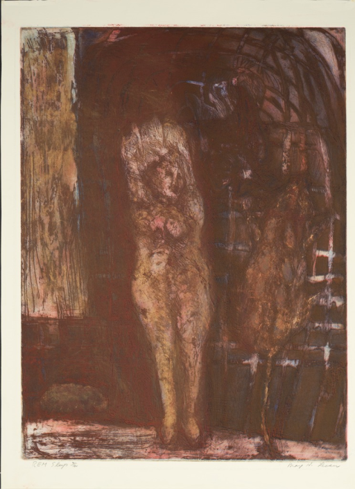<p>Female figure from May Lesser's dream.</p>