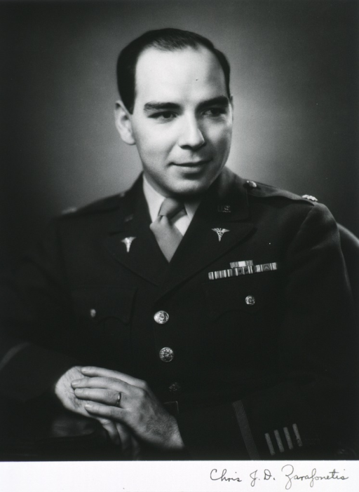 <p>Half length, full face showing hands and wearing uniform of army officer.</p>