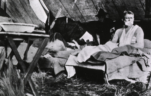 <p>Interior of the 2nd Div. field hospital after the battle of El Caney, Jul. 1, 1898.</p>