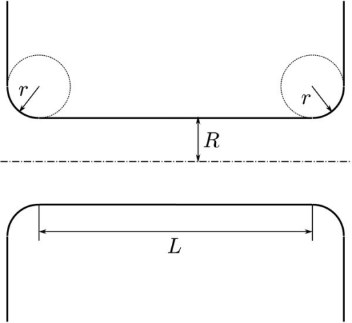 Schematics of the geometry of the tube-junctions.