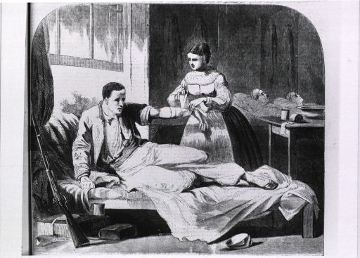 <p>The wounded Zoave in the hospital at Washington.</p>