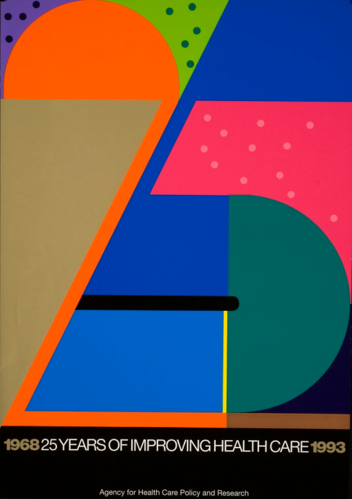 <p>A multi-color image forming &quot;25&quot; for the celebration of the Agency for Health Care Policy and Research (1968-1993).</p>