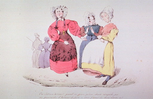 <p>A pregnant woman, with her hands resting on her abdomen and looking dejected, is being comforted by two other women.</p>
