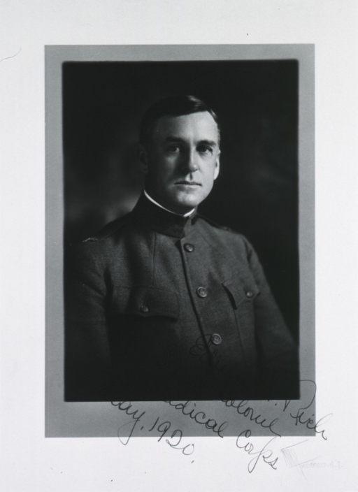 <p>Head and shoulders, right pose; face front; in uniform, Lt.-Col. M.C.</p>
