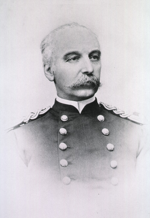 <p>Head and shoulders, front pose; head to right.  In uniform.</p>
