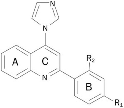 The skeleton of the newly discovered aromatase inhibitor.