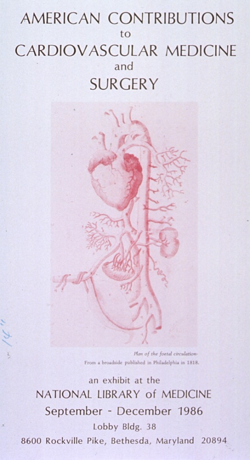 <p>Poster announcing exhibit September-December 1986.  Visual motif: anatomical plate from early American broadside.</p>
