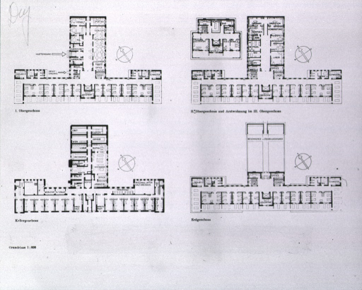 <p>Floor plans of the surgical clinic.</p>