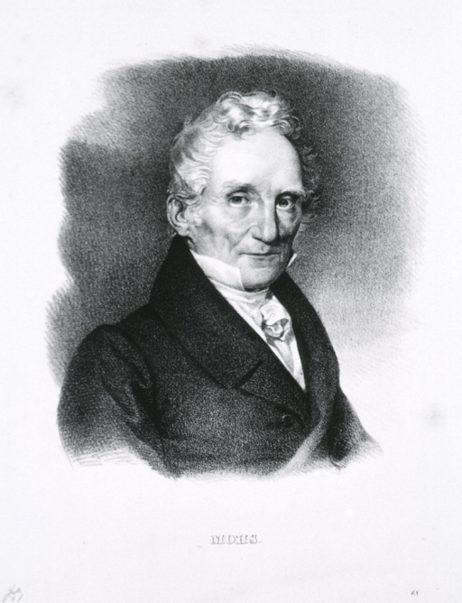 <p>Head and shoulders, right pose; white haired man.</p>
