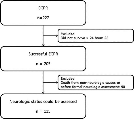 Population inclusion and exclusion criteria. ECPR, extracorporeal cardiopulmonary resuscitation.