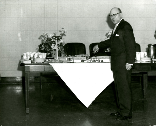 <p>Robert Austin, NLM Reference Librarian, during an award ceremony.</p>