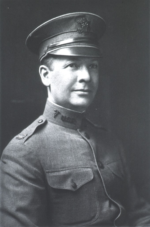 <p>Head and shoulders, right pose, wearing uniform (Captain, M.O.R.C.).</p>