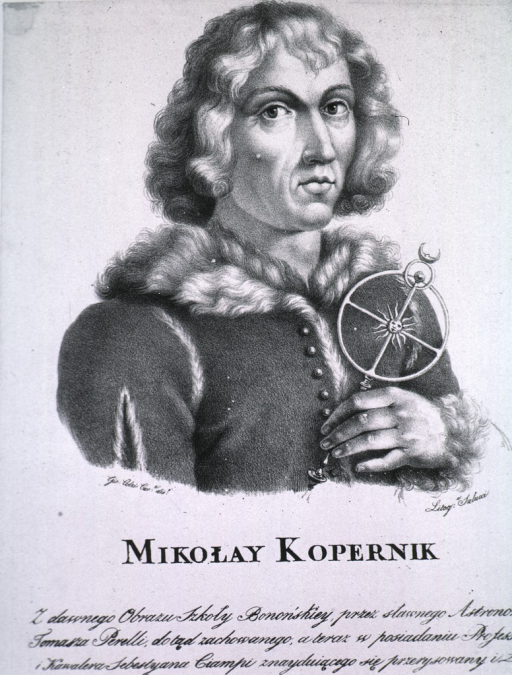 <p>Half-length, holding astronomical instrument, wearing fur trimmed coat.</p>