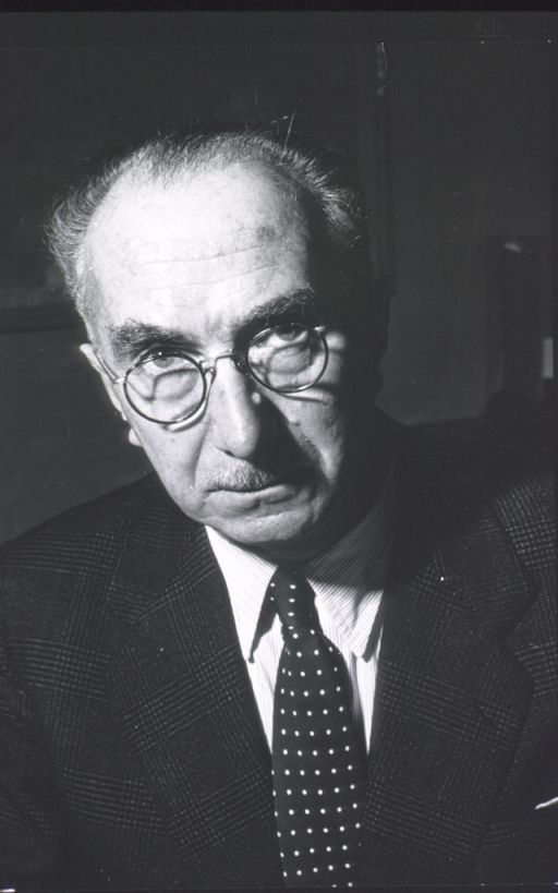 <p>Head and shoulders, full face; wearing suit and tie, glasses.</p>