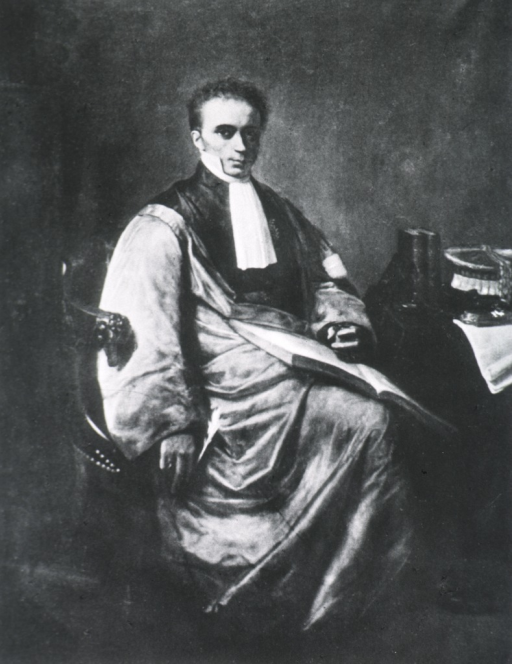 <p>Full length, seated, right pose, full face; holding large open book on lap.</p>