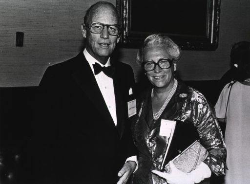 <p>Dr. Donald S. Fredrickson, president of the Howard Hughes Medical Institute, is the medical school's orator at Harvard University's 350th anniversary.  Henriette Fredrickson is standing next to Dr. Fredrickson.</p>