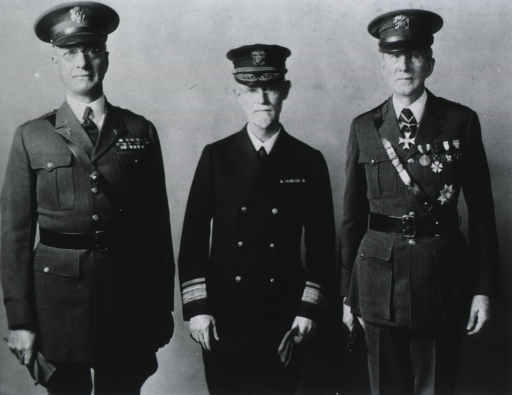 <p>All: three-quarter length, standing, full face; wearing uniforms and caps.</p>