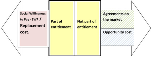 Older people's production. Older people's production is either part of or not part of the entitlement. If it is part of the entitlement replacement cost approach should be used. If it not is part of the entitlement agreements on the market or opportunity cost should be used.