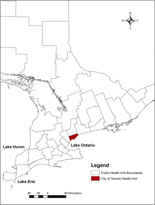 Onterio Canada Map.Map Of Ontario Canada Highlighting The Location Of The Open I