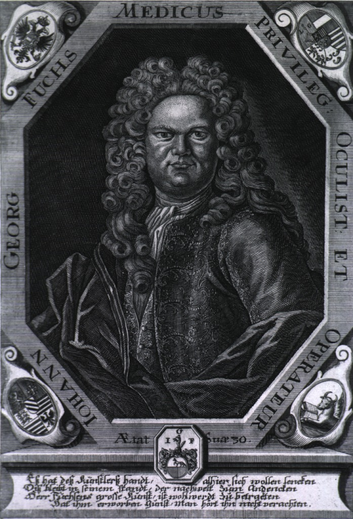 <p>Half-length, left pose, full face, in octagonal border showing coat-of arms.</p>
