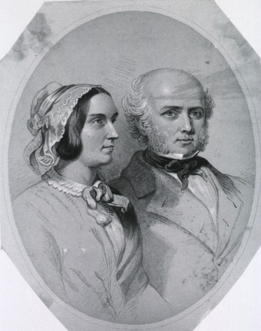<p>Double portraits; in oval.</p>