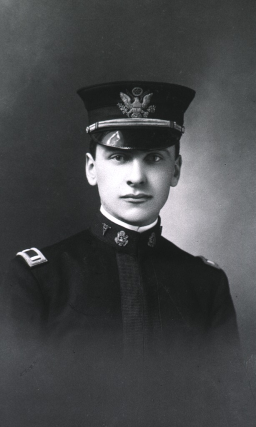 <p>Head and shoulders; in uniform and cap, M.C.</p>