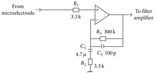 Scheme of preamplifier.