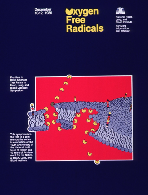 <p>Poster announcing first symposium in NIH Centennial series December 1986. Visualmotif:</p>