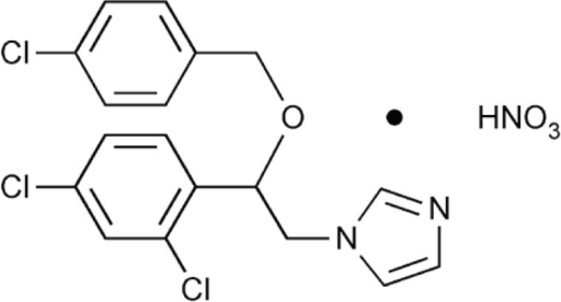 The chemical structure of econazole nitrate (EN).