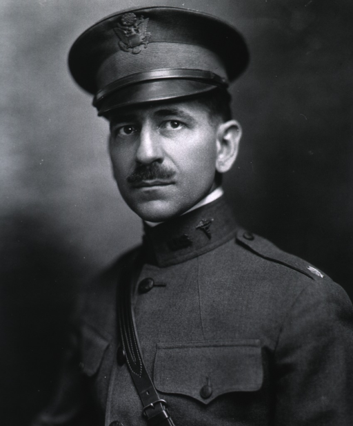 <p>Head and shoulders, full face, wearing uniform and cap (Major).</p>