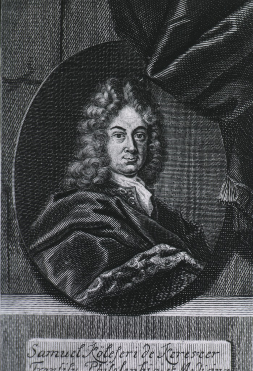 <p>Head and shoulders, right pose, full face; in oval medallion surrounded by draperies.</p>