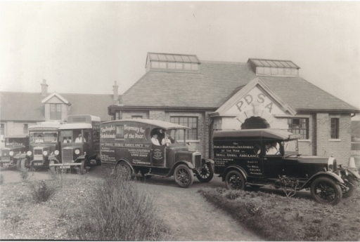 Part of the fleet of PDSA ambulances that scoured the countryside for patients, according the practice sales agent, Charles Huish (copyright PDSA, reproduced with permission)