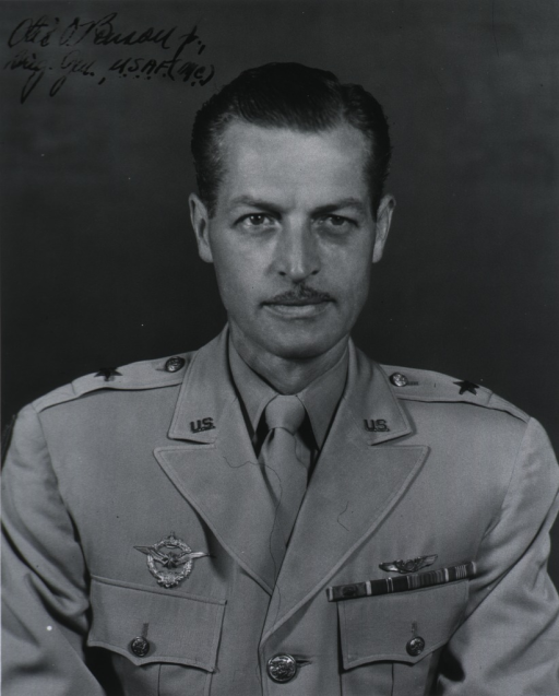 <p>Head and shoulders, full face, wearing uniform with British decoration.</p>