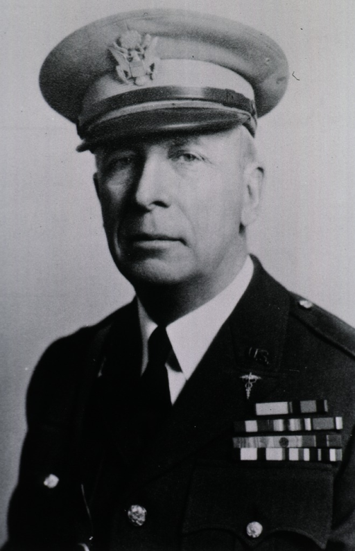 <p>Head and shoulders, full face, wearing uniform and cap (Colonel) of U.S. Army Medical Reserve.</p>