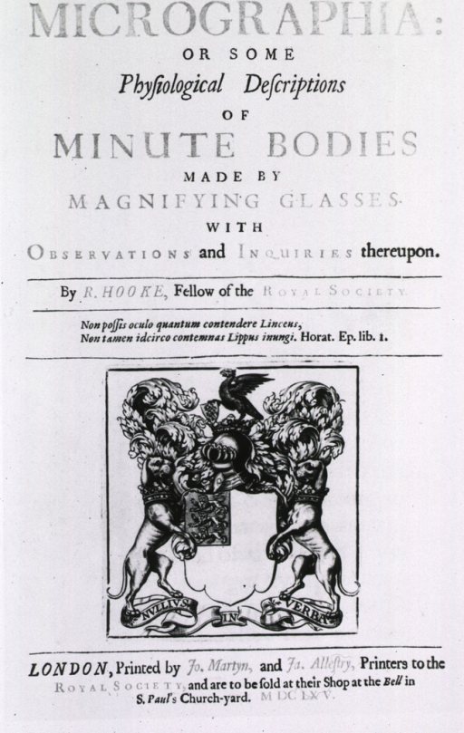 <p>Title page, printed in red and black ink, with engraved coat of arms (motto &quot;nullius in verba&quot;).</p>